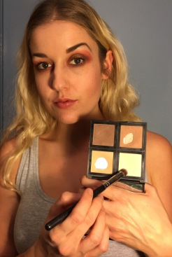 This is the contour palate from Elf Cosmetics, I use it for eyeshadow and contouring! I'm all about that multi-use!